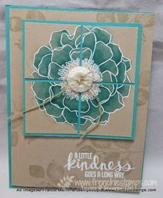Stamp & Scrap with Frenchie: Crumb Cake with Blendabilites, Blended Bloom Stampin'Up!