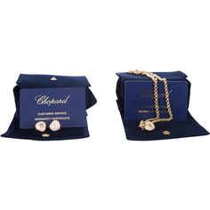 Pre-Owned  Chopard Happy Diamond Heart Earrings & Necklece ($21,050) ❤ liked on Polyvore featuring jewelry, earrings, gold, white earrings, heart shaped diamond earrings, diamond heart earrings, white diamond earrings and colorful earrings