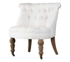 i think i would like a chair like this - french chair w/ casters