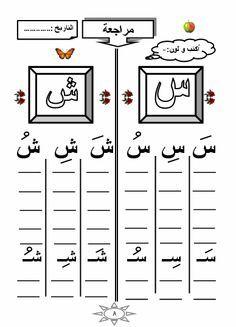 أصوات حرف ش، sounds of letter ش