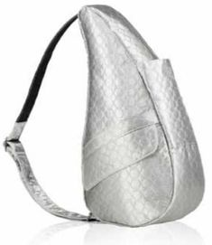 Champagne Ergonomic Purse By Ameribag Shoulder Bag Features An Iridescent Silvery Fabric With