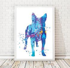 Originaldruck -  Australian Cattle Dog Aquarell Druck Poster A3 - ein Designerstück von vasilt bei DaWanda