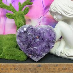 Amethyst Cluster Heart crystal healing Crystal lovers Purple Crystals Gifts for crystal lovers Healing gifts Home decor Purple Pretty purple things Make your home pretty Natural Stress Relievers, Purple Things, Amethyst Cluster, Crystal Gifts, Crystals And Gemstones, Crystal Healing, Lovers, Make It Yourself, Heart