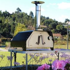 The FIESTA portable pizza oven weighs only 20 Kgs fully equipped and ready to make delicious pizzas or roast a chicken, beef or veggies. It's the most portable pizza oven and versatile we've ever made. Portable Pizza Oven, Pizza Oven Outdoor, Small Pizza, Four A Pizza, Wood Fired Oven, Wood Fired Pizza, Clay Oven, Fire Pizza, Bbq Grill