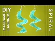 Macrame Spiral Earrings / DIY Tutorial - YouTube