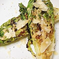 We have the best easy grilling tips, tricks, and barbecue hacks for summer. Impress guests by learning these sizzling outdoor cooking skills from our entertaining experts. Grilled Romaine Lettuce, Caesar Salad, Food Network Recipes, Cooking Recipes, Healthy Recipes, Healthy Dinners, Salad Recipes, Grilling Tips, Recipes