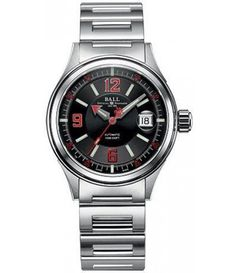 Ball NM2088C-S2J-BKRD Fireman Racer- Black Dial. 40mm case. 11.4mm thick.