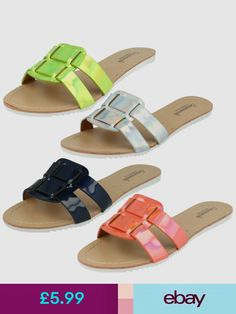 How to wear wedges summer 37 trendy ideas Shoes Flats Sandals, Mule Sandals, Leather Slippers, Leather Sandals, Zeina, Fashion Sandals, Cheap Shoes, Womens Slippers, Multi Coloured Slippers