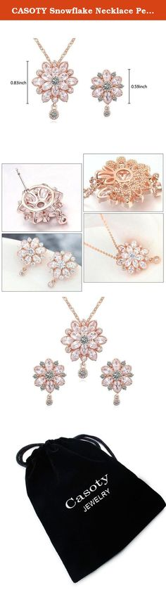 CASOTY Snowflake Necklace Pendants Earring Stud Jewelry Set Women Favorite Fashion 18K Gold Plated Jewelry Set Best Gift for Girlfriend (Rose Gold). Welcome to Casoty Jewelry's Store! Super Lucky and Elegant Cubic zirconium Necklace and Earrings Set, Best for Friends' Family Members or business partners, take this magic and lucky jewelry set for your beloved ones right now. Features: Material: AAA Cubic zirconium CZ + Eco-friendly Alloy. Fashion and Unique design, easy to match the…