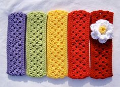 Granny Style Crochet Headband.  I need somebody to teach me to crochet so I can make these for Girl 2.