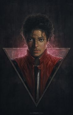 """Michael Jackson"" - Illustration by Sam Spratt A painting I did of the King of Pop a couple years back."