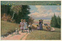 paul hey illustrations | ... von Fallersleben: Die Frühlingsbotschaft. Illustriert von Paul Hey