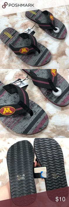 bb545d6caf3 NCAA mens Minnesota Golden Gophers flip flops New with tags Size large 11 12  Or