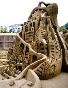 City of sand: Sand Art #SandSculpture #SandArt #SandCastle