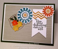 """Stamp Sets: Polka-Dot Pieces, Work of Art  Card Stock: Mossy Meadow, Whisper White, Sahara Sand  Ink Pads: Lost Lagoon, Tangelo Twist, Hello Honey  Punches: 1-1/4"""" Scallop Circle, 1-3/4"""" Scallop Circle, 1/2"""" Circle, Boho Blossoms  Framelits: Banners  Sizzlits: Little Leaves  Embossing Folders: Woodgrain  Embellishments: Pearls, Linen Thread"""
