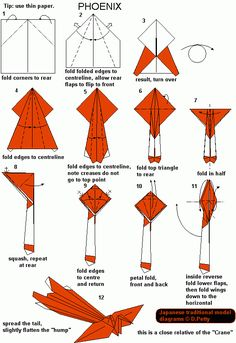 How To Make Origami Animals Printable Instructions Origami Design, Instruções Origami, Origami And Kirigami, Origami Fish, Origami Butterfly, Paper Crafts Origami, Useful Origami, Origami Stars, Oragami