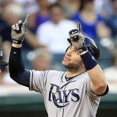 Luke Scott's slump was 0  for 41  before his 2 run homer against the Indians  07/06/12  Game  84  Rays win  10-3