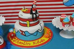 Cake from a Cat in the Hat Party #catinthehat #cake