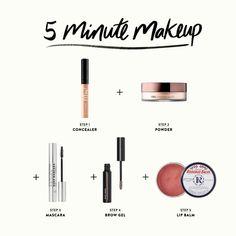 Beginner Makeup Kit, Makeup For Beginners, Makeup Essentials For Beginners, Beauty Essentials, Makeup Dupes, Skin Makeup, Beauty Makeup, 5 Minute Makeup, Makeup Starter Kit