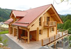 Log Home Living, Villa, Log Cabin Homes, Cozy Cabin, Source Of Inspiration, House In The Woods, Style At Home, Home Builders, Floor Plans