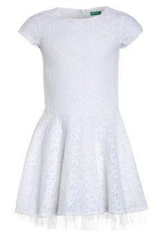Benetton DRESS - Juhlamekko - white - Zalando.fi