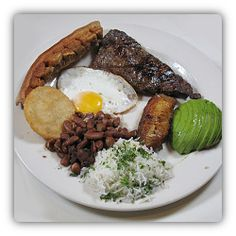 #Bandeja paisa is national #food (dish) of #Colombia