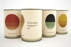 Tomatoes; Chickpeas; Olives; Corn —  La Plate Bande by Guilherme de Bernardo S. Great gradients on this veggie #packaging PD