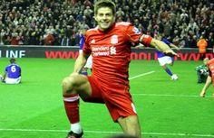 Steven Gerrard Celebrates Photo credit:  Ruaraidh Gillies / Wikimedia