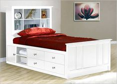 Twin Bed Frames With Storage - In your effort to improve your bedroom, you can consider changing your bed frame. In this case, a twin bed frame with King Size Storage Bed, Trundle Bed With Storage, Platform Bed With Storage, Twin Platform Bed, Bed Frame With Storage, Bed Storage, Storage Drawers, Kids Bed Design, Bed Frame Design