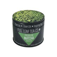 Highest Rated Premium Matcha Green Tea Powder | Pure Matcha 1.5 oz Tin – Full Leaf Tea Company