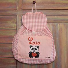 Mochila guardería oso panda con tu nombre - Marketplace social de tiendas para niños de 0 a 14 años