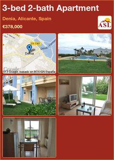 3-bed 2-bath Apartment in Denia, Alicante, Spain ►€378,000 #PropertyForSaleInSpain