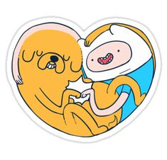 """""""best buddies - finn and jake"""" Stickers by rabbitpaintpen 