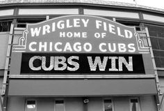Chicago Cubs Set Of 3 Photos The Sign Wrigley Field by ginaphoto, $35.00