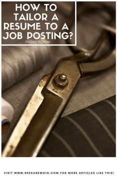 How to Tailor Your Resume to Fit a Job Description