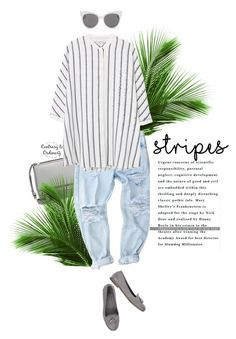 """""""Untitled #1551"""" by contrary-to-ordinary ❤ liked on Polyvore featuring moda, Givenchy, MANGO, n.d.c., Blanc & Eclare i stripes"""