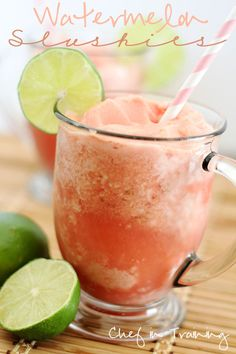 Watermelon Slushies! An easy, delicious and healthy way to enjoy summer!