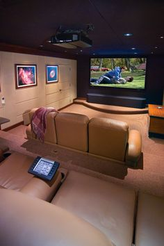 Theater Rooms   HiFi House   Home and Garden Design Ideas   One could  dream right  I would love a home theater with surround sound with this  setup Home Cinema and Media Room Design Ideas   Media room design  . Home Theater Room Design Ideas. Home Design Ideas