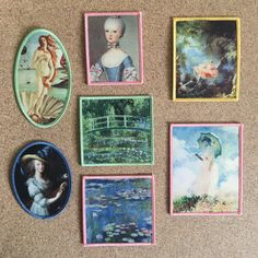 Mix and Match Jenni's Prints Paintings iron-on patches Monet Japanese Water…