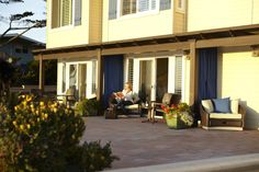 Our spacious patio space at Blue Dolphin Inn is perfect for relaxing with a glass of wine and a book, or just taking in the gorgeous views of California's Central Coast. Book your stay today at www.cambriainns.com