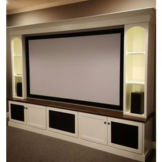 Captivating Our Home Theater Is Almost Complete. The Cabinets Were Built And The Entire  Space Was Repainted A Little Over A Week Ago. The Projector H.