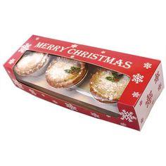 Christmas Snowflake Double Stack Mince Pie Box 9x3x2