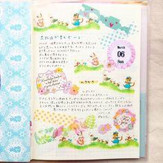 """3/6の日記 花粉症のことと、新しいシャンプーに悩むこと<span class=""""emoji emoji263a""""></span> * 日記デコはおすそ分けしていただいたマステを使って、春っぽいページにしました\( *´•ω•`*)/♡*。 * #日記 ..."""
