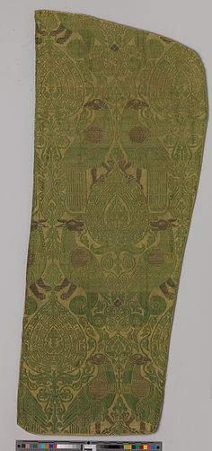 Textile with Brocade Date: 13th century Culture: Italian Medium: Silk, gold thread Accession Number: 12.166.3