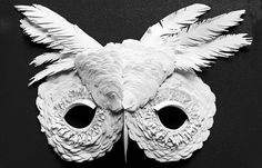 Paper cut owl mask by MyOwlBarn, via Flickr