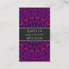 Shop Purple Floral Mandala Business Card created by ZyddArt. Print Templates, Card Templates, Hair Stylist Gifts, Hair Stylists, Hairstylist Business Cards, Business Card Design, Mandala, Graphic Design, Purple