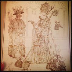 """Art work by Leonard B. Lubin in Lewis Carroll's """"The Pig-Tale""""."""