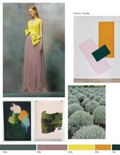 Color Inspiration No.8: Stone Green, Rose, Lemon Butter, Amber & Pine via Eclectic Trends