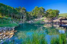 A colaberation with nature#landscape #landscaper #landscapedesign #landscape_lovers #designinspiration #treescape #nativeplants #workinprogress #workspace #waterscape #waterfall #rockpool #naturalpool #deck