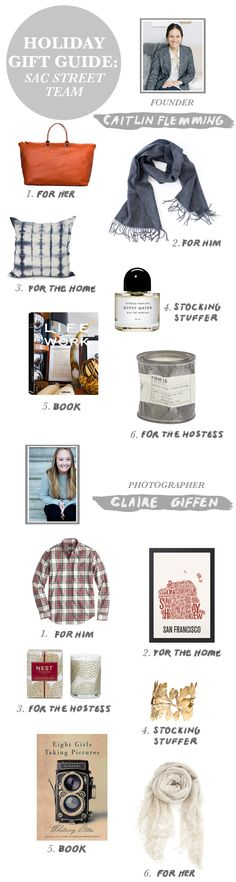 Gift Guide: Sac Street Team (Caitlin & Claire) | Sacramento Street | #giftguide #gifts